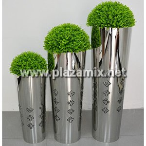 圓柱形不鏽鋼花瓶 Stainless Steel Flowerpot - Cylindrical