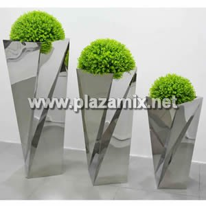 扭曲形不銹鋼花盆 Stainless Steel Flowerpot - special-shaped