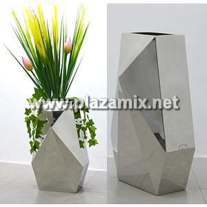 菱形不銹鋼花瓶 Stainless Steel Flowerpot - diamond