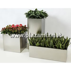 方形不銹鋼花盆 Stainless Steel Flowerpot - Square