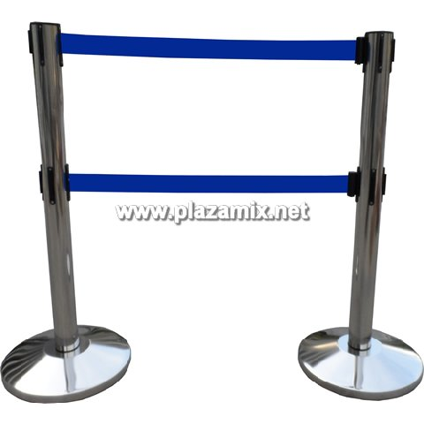不銹鋼雙層拉帶柱 Dual Belt Tensile Barrier