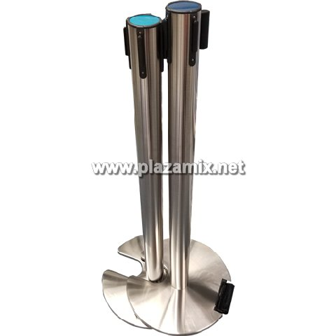 有轆可疊式U型座拉帶柱 Stackable Space Saver Retractable Belt Stanchions